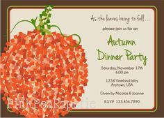 Fall Party Invitation fun for kids by Ginger Morgan Hamilton