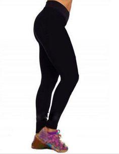 Women Compression V High Waist Tights Pants Leggings Fitness YOGA Sports Pants (S, black)