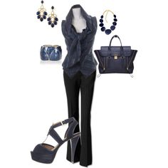 Navy, created by johnna-cameron on Polyvore