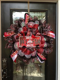 Ohio state wreath... Cody would so approve!