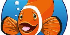 Clownfish #Logo #Template on #GraphicMonk Clownfish, Tweety, Sonic The Hedgehog, Template, Studio, Logos, Fictional Characters, Design, Art