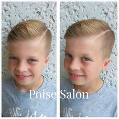 Hard part boys haircut-Poise Salon Hard Part Haircut, First Haircut, Kids Cuts, Boy Cuts, Men's Cuts, Little Boy Hairstyles, Cute Hairstyles, Fashion Hairstyles, Hairstyle Men