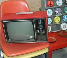 Retro 70s Red Plastic Television Modern Decor