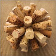 Wine Cork Ornament @Brianna Argumosa