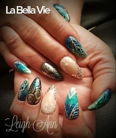 Feather Nails Feather Nails, Hair Beauty, Turquoise, Jewelry, Jewlery, Jewerly, Green Turquoise, Schmuck, Jewels