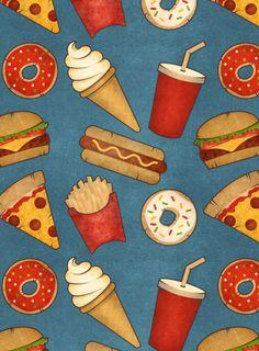 #food #fastfood #pattern #wallpaper #bue