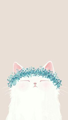 Cute cat drawing, animal drawings, cute illustration, cute cat wallpaper, i Tumblr Wallpaper, Mobile Wallpaper, Wallpaper Backgrounds, Phone Wallpaper Cute, Colorful Wallpaper, Handy Wallpaper, Wallpaper Quotes, Wallpaper Lockscreen, Animal Wallpaper