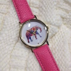Pink Elephant Watch Pink band. Also available in blue. Check other listing. Price is firm. Bundles of 2 or more receive 15 % off Accessories Watches