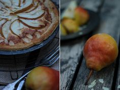 Rustic, hearty treat for tea: pear bakewell tart