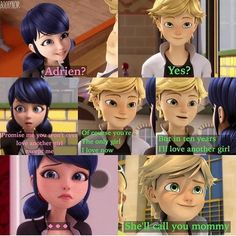 Awww Adrien !!! So adorable !!! Why can't guys be as him??