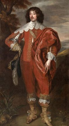 Portrait of William Villiers, 2nd Viscount Grandison _ after Sir Anthony van Dyck 1630