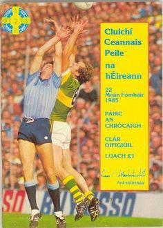1985 All-Ireland Senior Football Final programme, Dublin v Kerry Football Final, Reading Room, Dublin, Programming, Ireland, Baseball Cards, Sports, Hs Sports, Irish