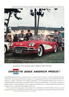 1958 Chevrolet Corvette Ad #chevroletclassiccars