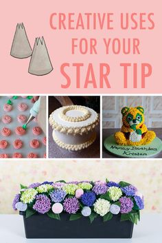 Discover how to use your star tip, one of the most versatile tools in a cake decorator's toolbox, with these creative and inspiring examples.