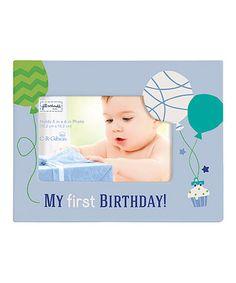 Blue 'My First Birthday' Boy Frame
