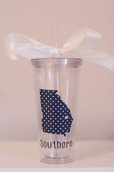 Georgia Southern Tumbler by SouthernMamaDesign on Etsy, $15.00