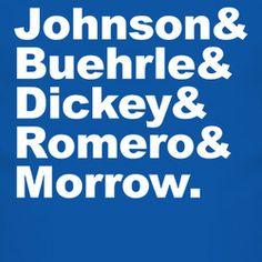 Toronto Baseball Johnson Buehrle Dickey Romero Morrow T Shirt