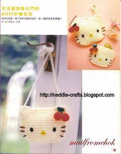 Hello Kitty Crochet Mini Handbags - Inspiration Only.