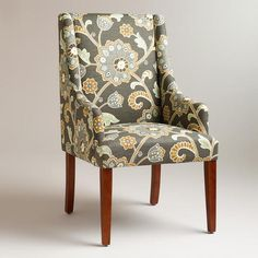 One of my favorite discoveries at WorldMarket.com: Gray Floral Hayden Dining Chair