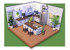 Sims Outdoor Clocks - Variety and Choice clocks, outdoor clocks Article Body: An outdoor clock Sims 4 House Plans, Sims 4 House Building, The Sims 2, Sims Four, Sims 4 Ps4, Sims 3, Sims 4 Kitchen, Kitchen Modern, Kitchen Ideas