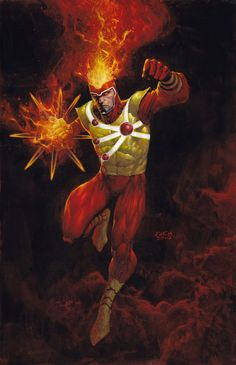 Firestorm by David Finch. Another intriguing character that is way too often mishandled. So much potential, so little good work done on him. Comic Book Heroes, Detective Comics, Superhero Comic, Comic Book Artists, Dc Comics Art, Cartoons Comics, David Finch, Comics Universe