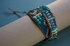 Ocean Woven Wrap Bracelet by treeleafjewellery on Etsy, $82.00