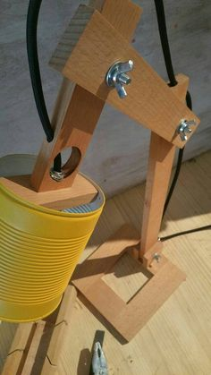 Yellow desk lamp recycled cans recycling can lamps lighting table lamps wooden desk lamp lights wooden lamp square yellow lamp Earth Wooden Desk Lamp, Table Lamp Wood, Wood Desk, Yellow Desk Lamps, Diy Luminaire, Best Desk Lamp, Recycle Cans, Rustic Lamps, Industrial Lamps