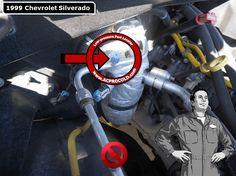 1999 Chevrolet Silverado 1500 - Low Side Port for A/C Recharge #acprocold #acpro #r134a #refrigerant - www.acprocold.com