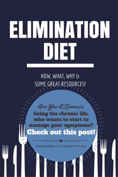 Elimination Diet – What, How & Why? Are you a spoonie, living the chronic life, who wants to start to manage your symptoms? Check out this post! Resources to do a elimination diet to help you identify triggers which cause inflammation and can help you manage your symptoms.   Julie Cerrone Holistic Health Coach itsjustabadday.com juliecerrone.com