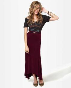 #Lulus                    #Skirt                    #Pretty #Maxi #Skirt #Burgundy #Skirt #Fluted #Skirt                          Pretty Maxi Skirt - Burgundy Skirt - Fluted Skirt                             http://www.seapai.com/product.aspx?PID=1812812