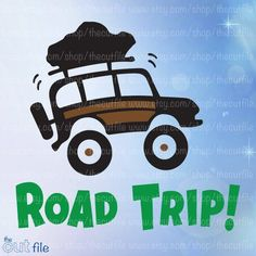 Road Trip svg Adventure Vacation clip art vinyl by TheCutFile Vacation Quotes, Travel Quotes, Vacation Trips, Family Road Trips, Online Tutorials, Travel Shirts, Vinyl Wall Art, Adventure Travel, Clip Art