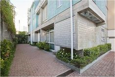 area externa bloco de concreto fachada de casa