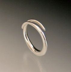 Open Taper Ring Sterling Silver Ring by daniellejewelry on Etsy