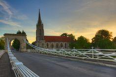 All Saints Church from the Marlow bridge at dawn