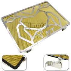 (38.70$)  Watch now - http://ai5di.worlditems.win/all/product.php?id=32461673647 - Free Shipping Motorcycle Engine Radiator Bezel Grille Grill Guard Cover Protector Golden For Yamaha MT09 Stainless Steel