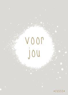 Zusss l Voor jou l http://www.zusss.nl/product/kaart-voor-jou/