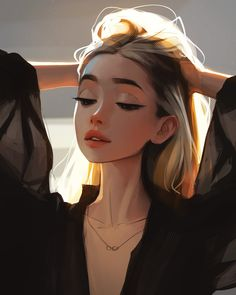 Cartoon Girl Images, Cartoon Art Styles, Girl Cartoon, Digital Art Girl, Digital Portrait, Portrait Art, Anime Girl Drawings, Art Drawings Sketches, Anime Art Girl