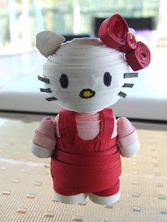 Week Eleven: 3D Quilled Hello Kitty Figurine