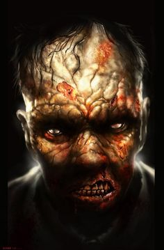 by lukemandieart on DeviantArt Zombie Life, Zombie 2, Nuclear Apocalypse, Zombie Apocalypse, Resident Evil Collection, Angels Blood, Walking Dead Zombies, World Of Darkness, Speed Paint