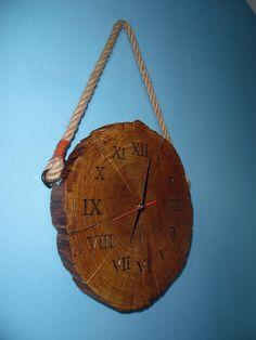 Rustic Wall Clocks, Wood Clocks, Diy Clock, Clock Decor, Diy Home Decor Easy, Handmade Home Decor, Diy Wood Projects, Wood Crafts, Flower Box Gift