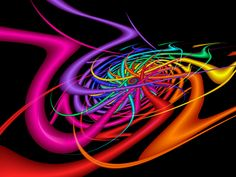 Alien Waves Fractal Art By Vickygo Mitcwild Neon Swirl Of Red Pink