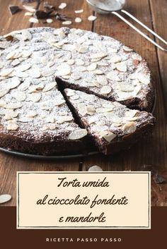 DARK CHOCOLATE AND ALMOND WET CAKE A super chocolatey dessert that melts in your mouth! 😋 Recipe step by step! Pie Co, Nutella, Plum Cake, Wonderful Recipe, Vegan Cake, Macaron, Vegan Baking, Something Sweet, Chocolate Recipes