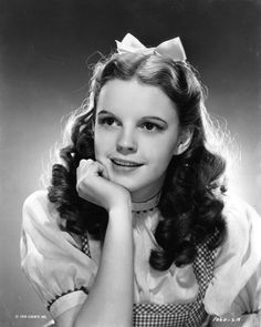 Judy Garland Wearing the Gingham Bodice for the Movie 'The Wizard of Oz' Photo