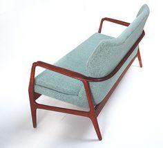 Axel Bender Madsen; #58 Upholstered Teak Sofa by Bovenkamp, 1950s.