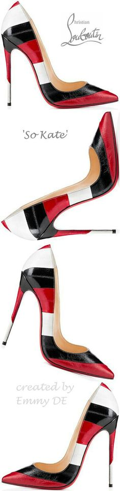 Kate Spade tri-colored pumps: Red, black, red