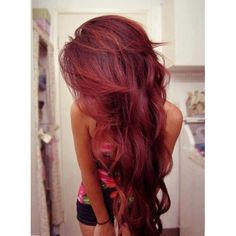 I'm trying to get my hair this colour. at the moment its dyed too dark brown so the red is harder to see, but when it fades i'm making it this exact colour