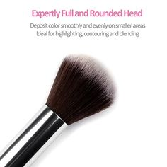 Amazon.com: HFUN Blush Brush Foundation Powder Makeup Brush with Metal Handle (Silver): Beauty