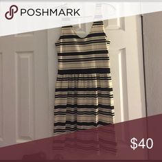 J crew dress Off white and black striped dress. Perfect for any spring/ summer occasion. J. Crew Dresses