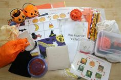 Super fun halloween activities. She stores each unit in a small container...just pull it out and you're good to go!