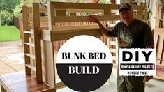 Simple Bunk Beds for kids. My daughter wanted bunk beds for her two boys. So after looking at bunk beds at Rooms to Go and IKEA, I modified my plans to this . Childrens Bunk Beds, Kids Bunk Beds, Bunk Bed Plans, Bed With Posts, Garden Projects, Planer, Challenges, Woodworking, How To Plan